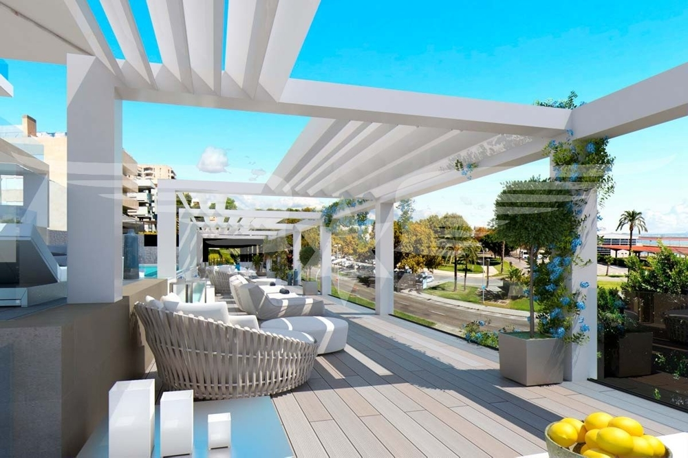 Visualisiertes Poolterrasse