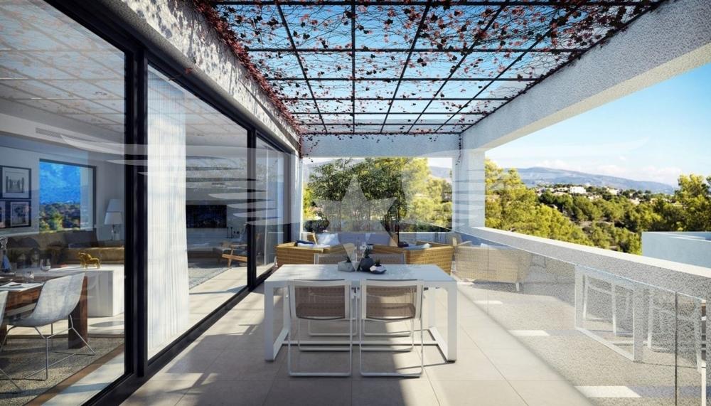 Visualisierte Terrasse OG