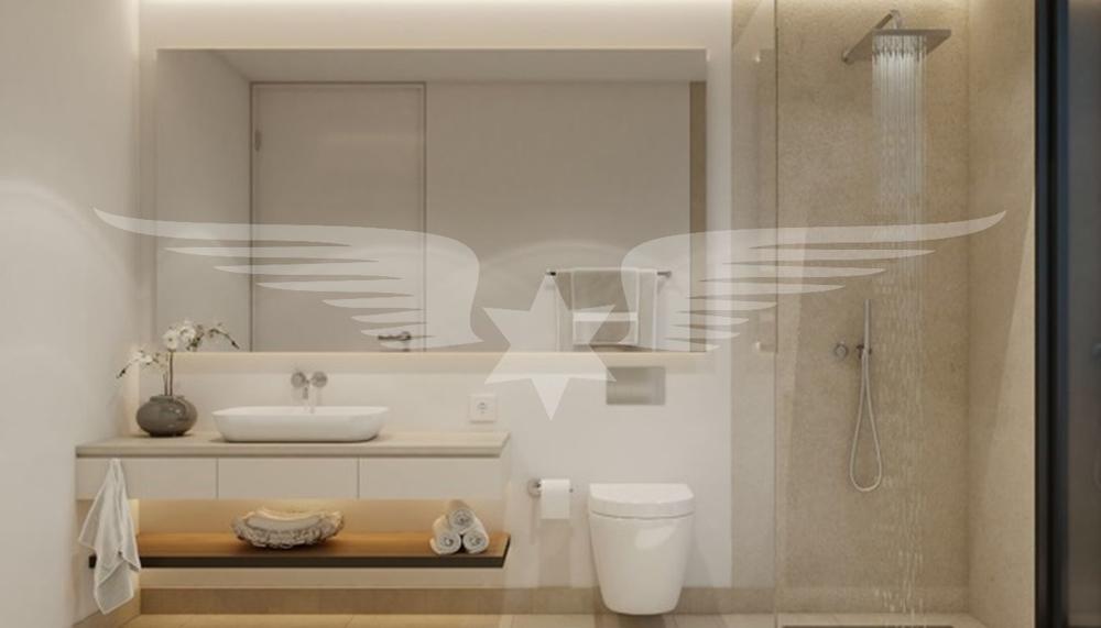 Visualisiertes Duschbad