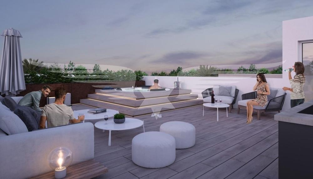 Visualisierter Dachterrasse OG Wohnungen