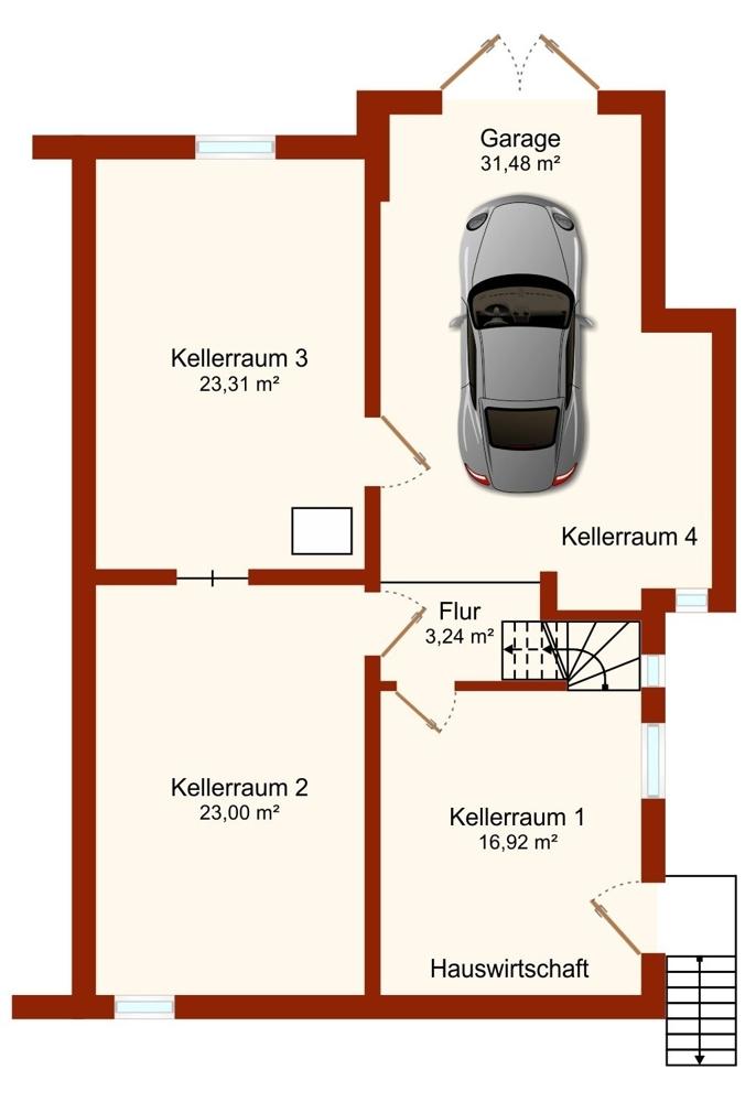Rolandstrasse_Untergeschoss
