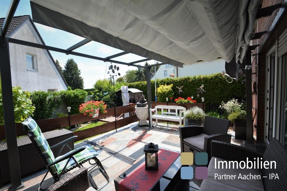 Gartenausblick von der Terrasse geniessen
