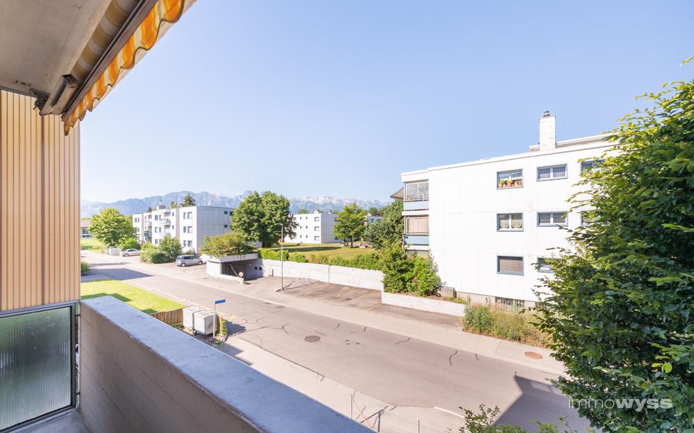 Sicht vom Balkon aus
