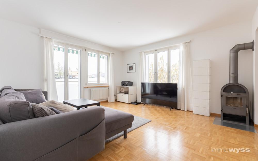 Wohnzimmer 2 mit Schwedenofen