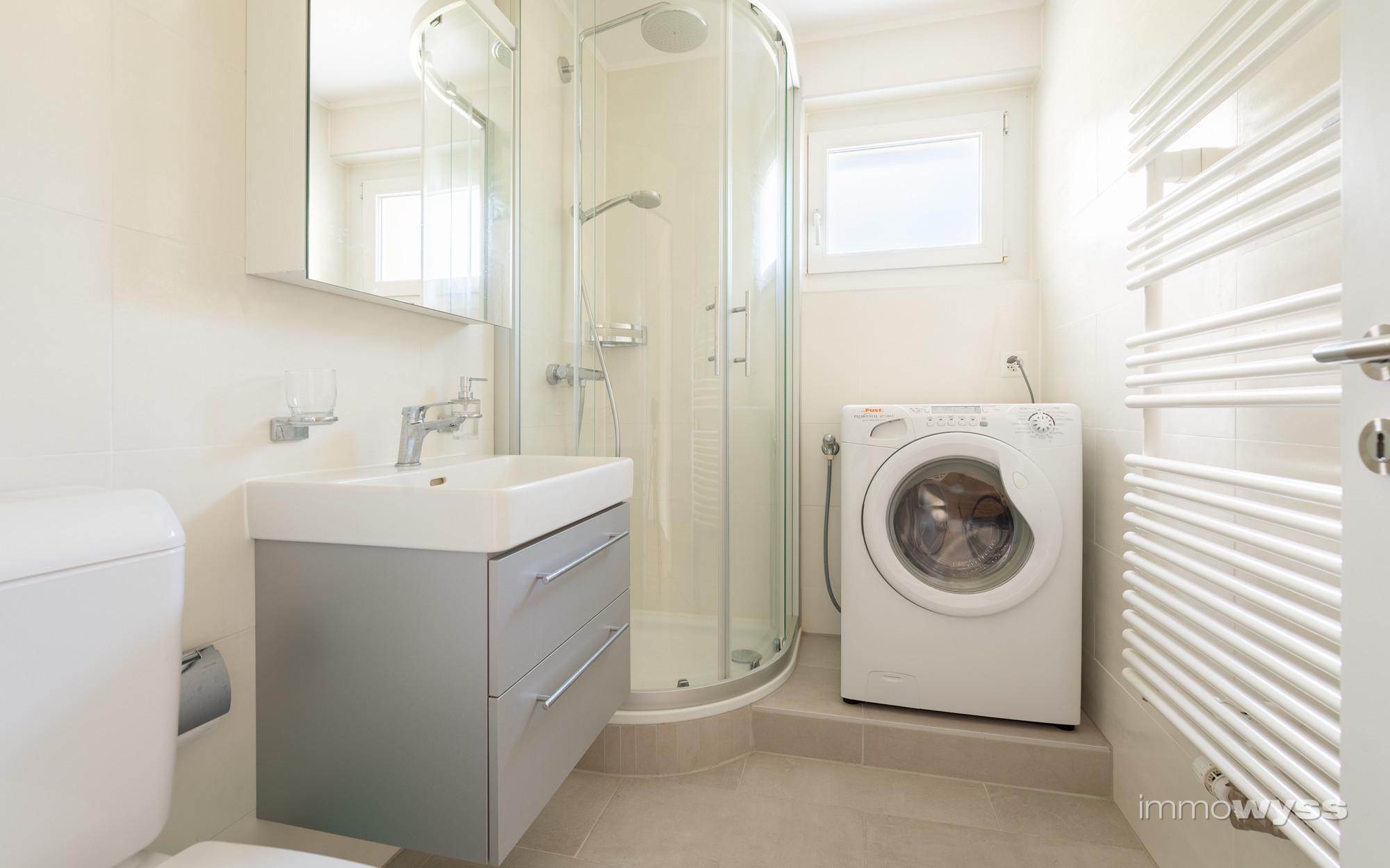 Badezimmer mit eigener Waschmaschine