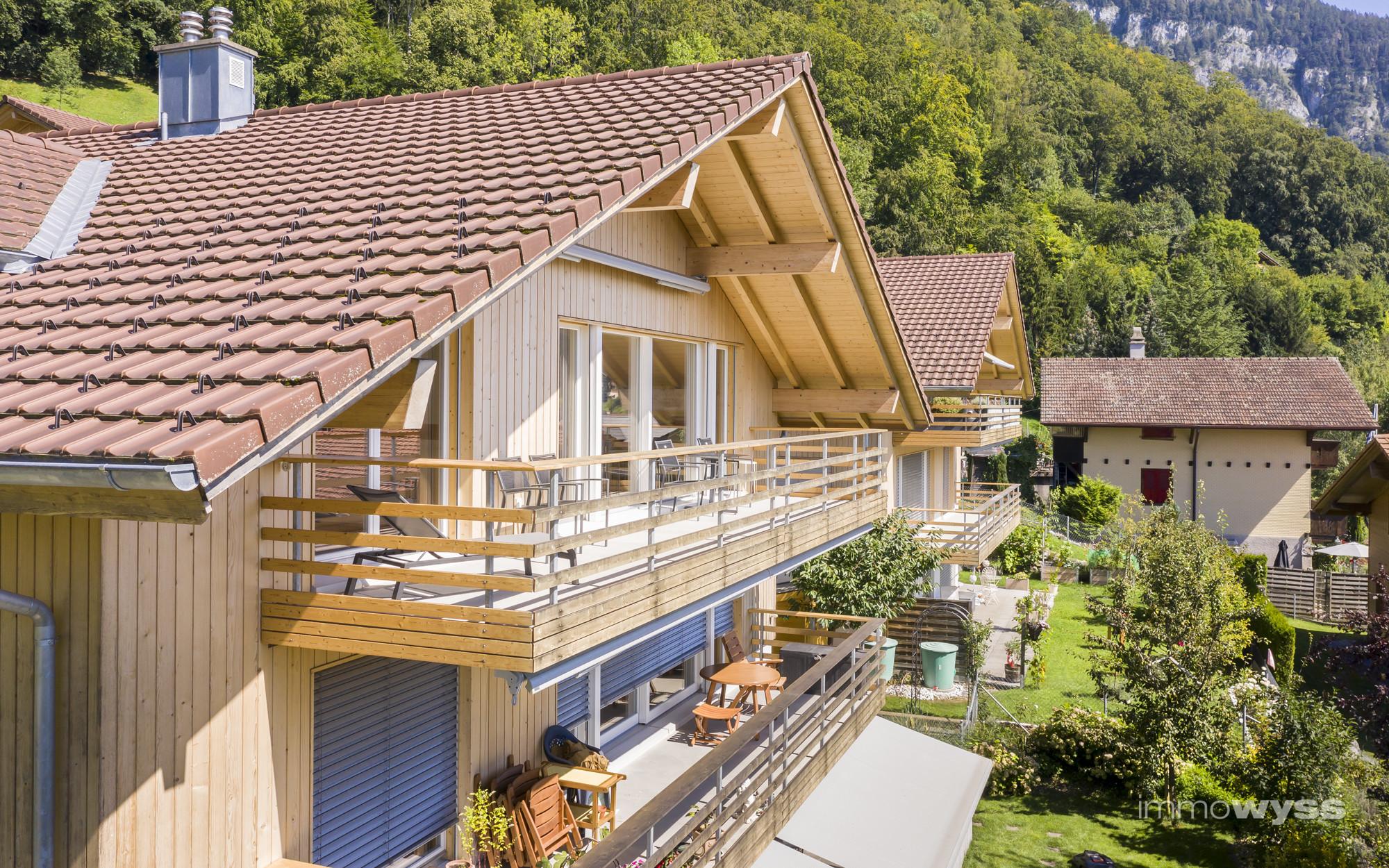 Hausansicht, Wohnung im Dachgeschoss