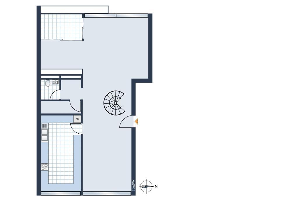 Urspüngliche Grundrissplanung 3. Etage