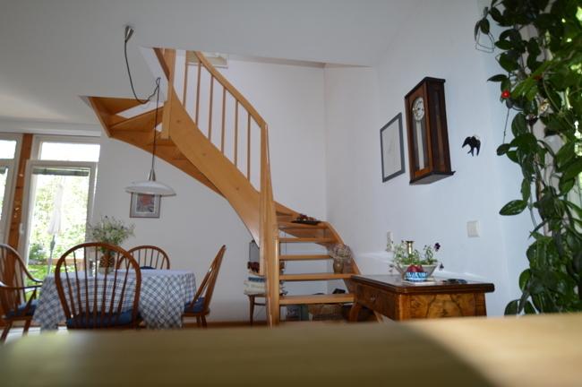 Treppe zum privaten Bereich