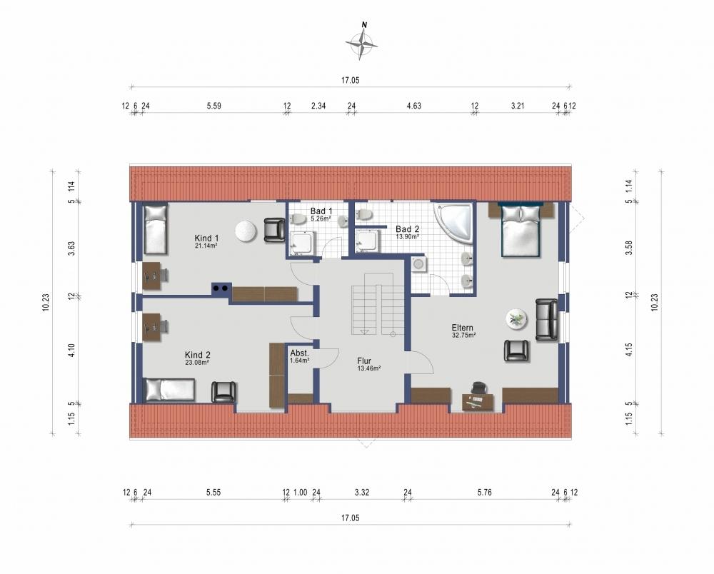 Dachgeschoss Wohnhaus
