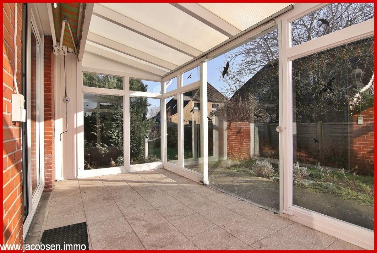 Eingeglaste Terrasse