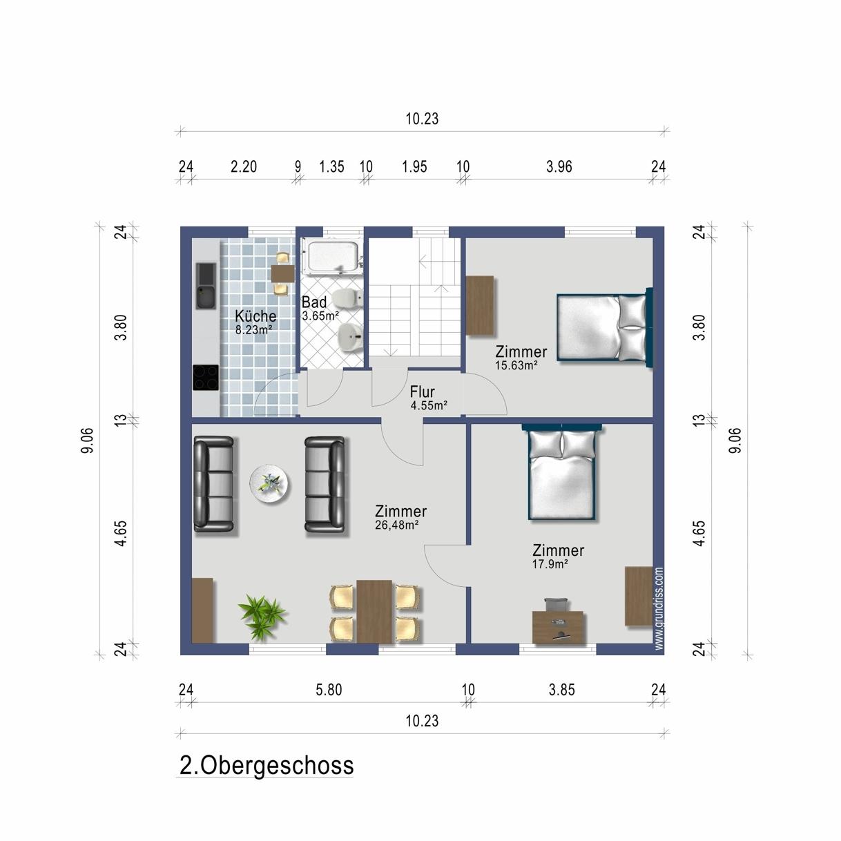 Wohnung im 2. Obergeschoss