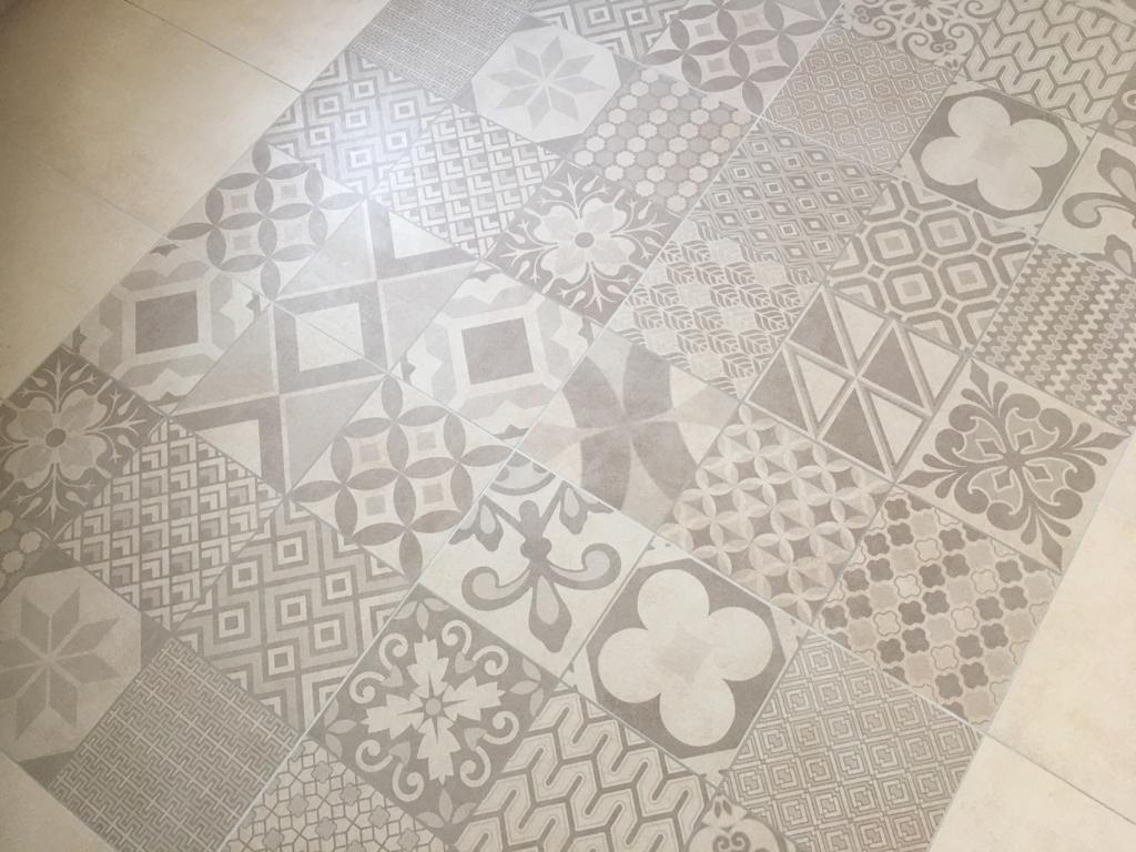 Badezimmer im OG, Fußboden