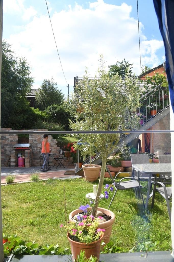 Aussicht aus dem Wohnzimmerfenster