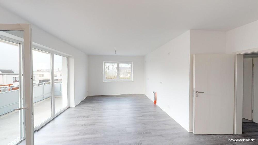 Wohnzimmer, offene Küche