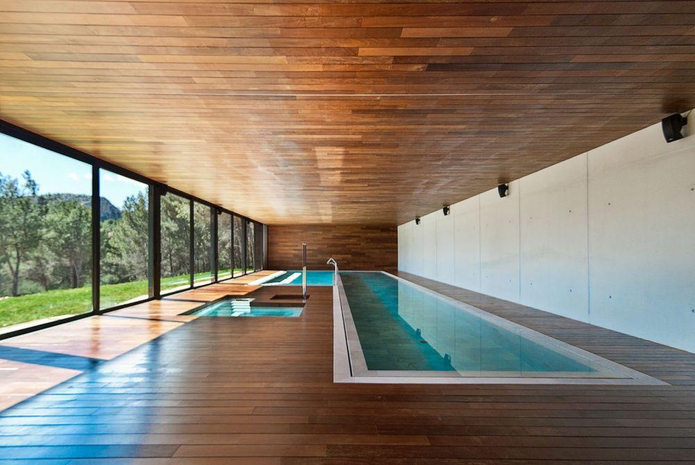 Indoor pool of the villa in Son Vida