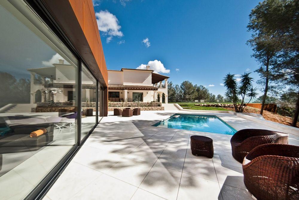 Terrace of the villa in Son Vida