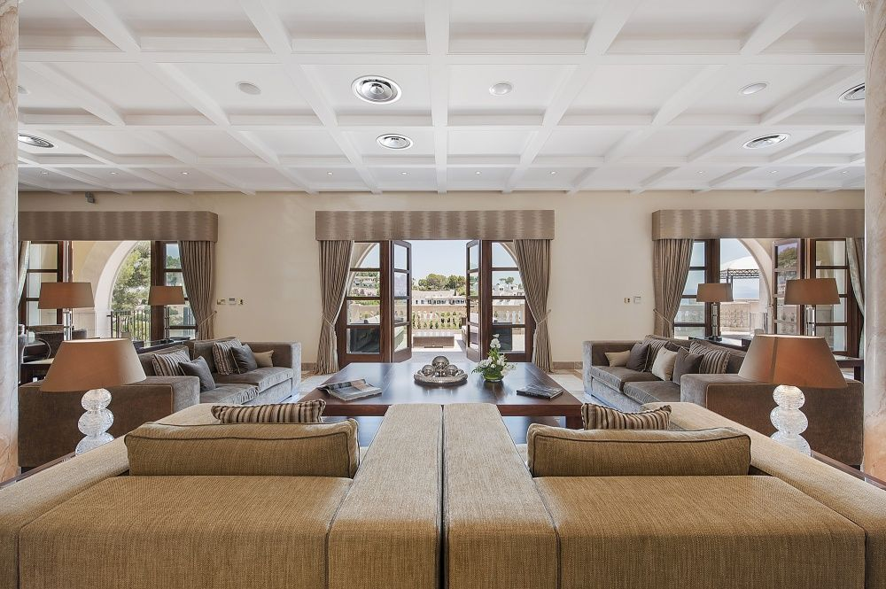 Living room of the villa in Sol de Mallorca