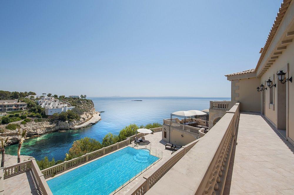 Terrace and Pool of the villa in Sol de Mallorca