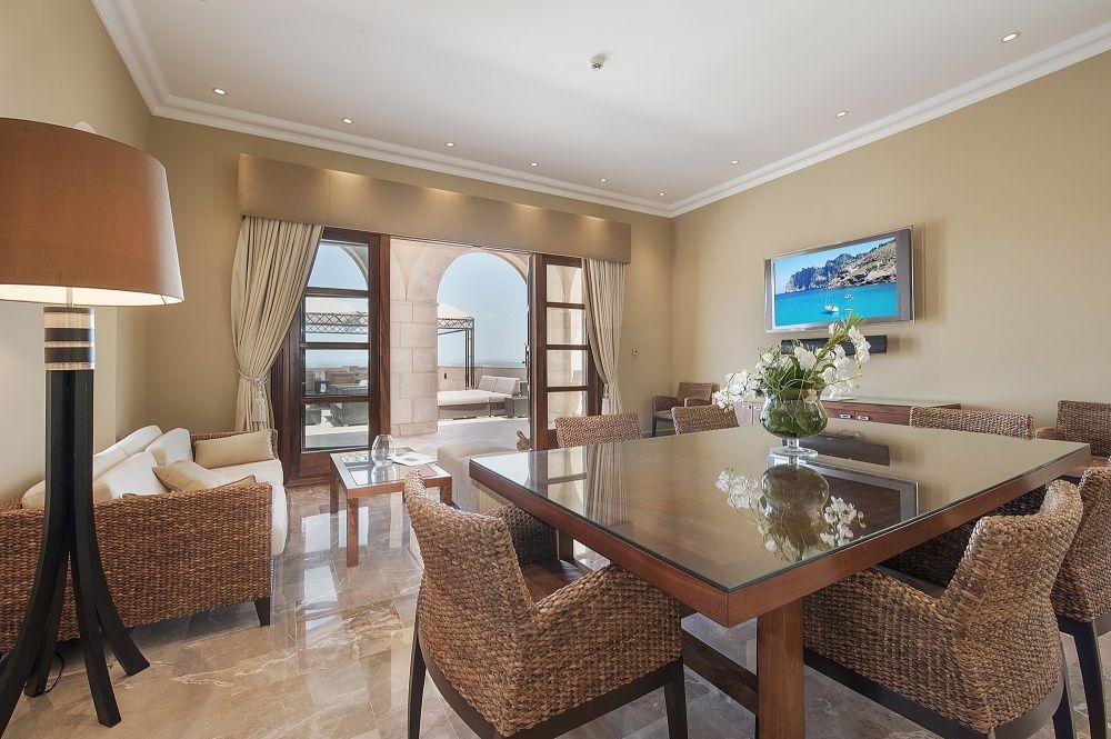 Dining room of the villa in Sol de Mallorca