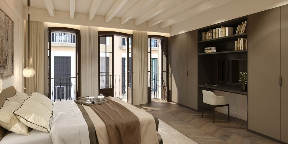 Twin House First floor bedroom master