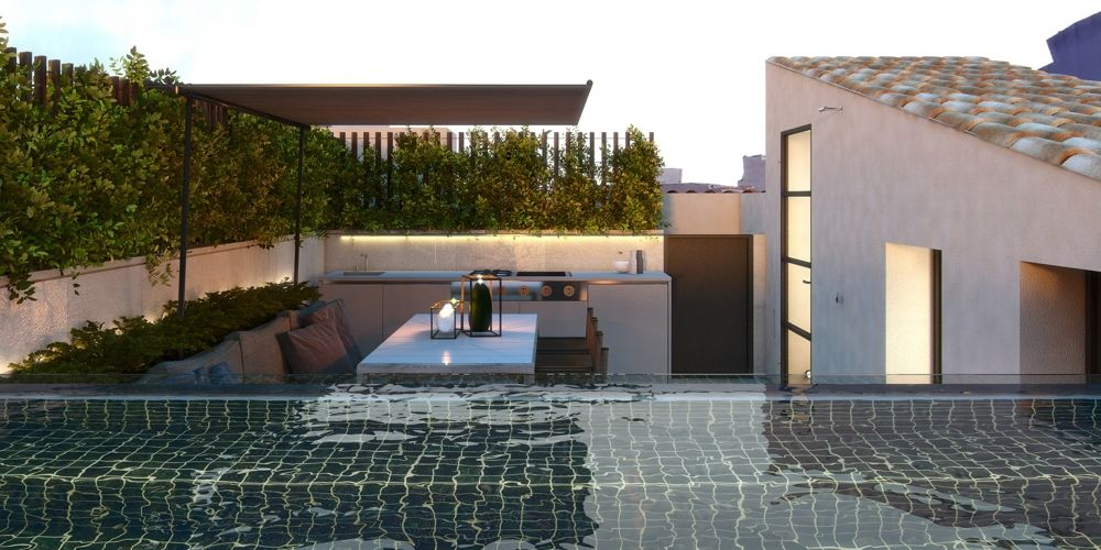 Twin House Roof terrace pool