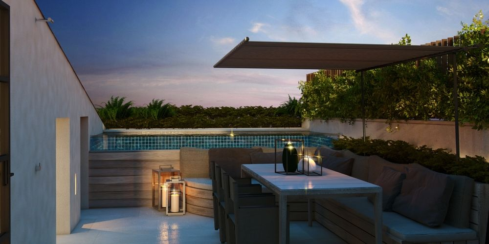 Twin House Roof terrace