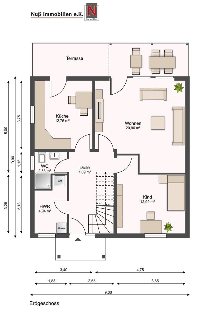 3233-Grundriss Erdgeschoss