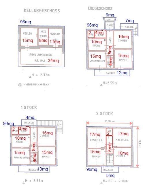 Flächen Gebäude Kastanien