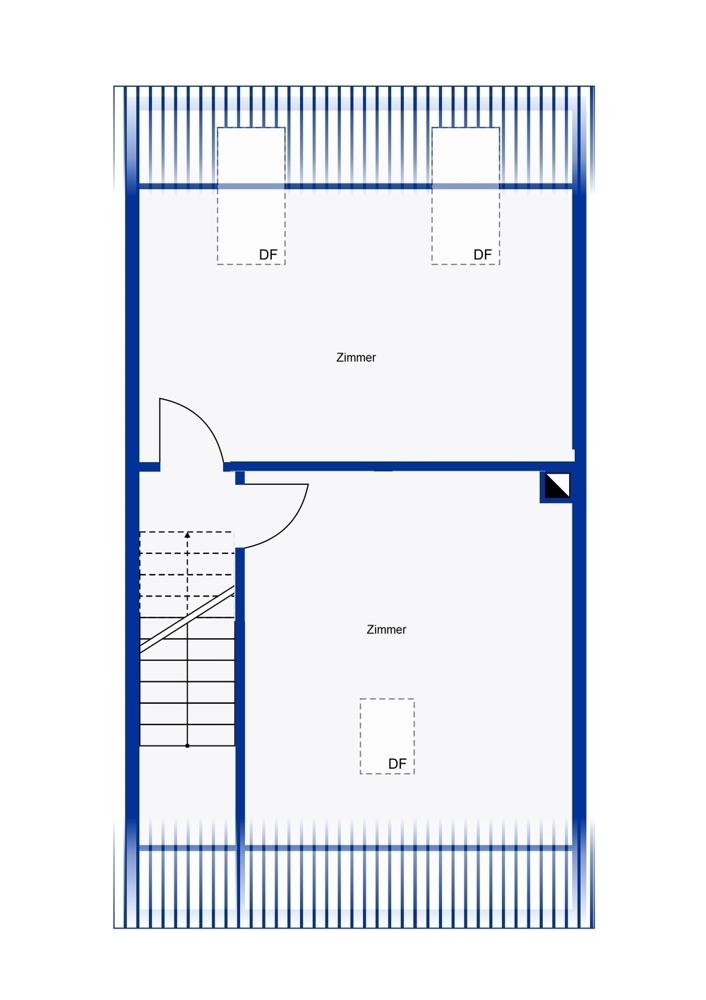 Dachgeschoss mit zwei Zimmern