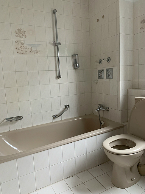 Badwanne und Toilette