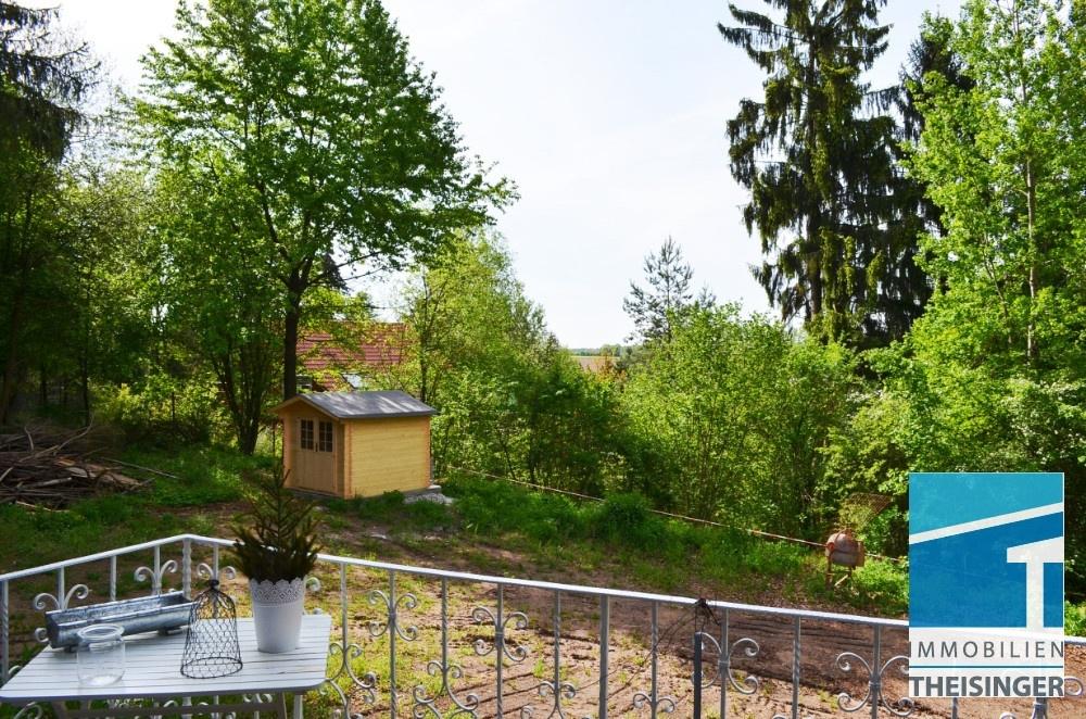 Balkon, Sicht ins Grüne