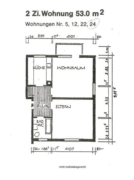 Skizze Grundriss -nicht maßstabsgerecht-