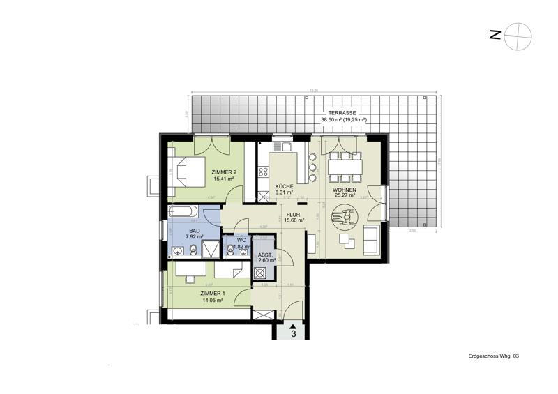 Erdgeschoss Whg 3