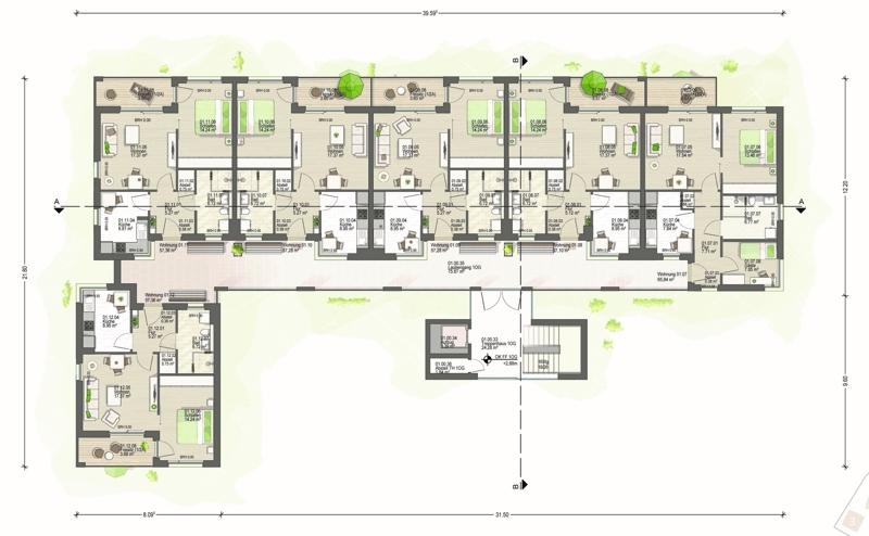 1. Obergeschoss Haus 1 (A)