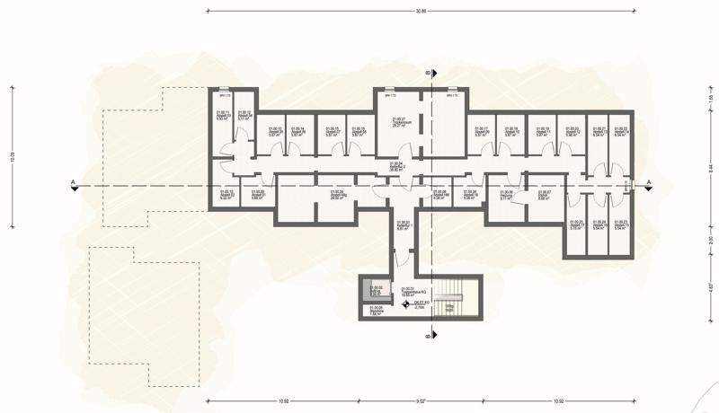 Kellergeschoss Haus 1 (A)