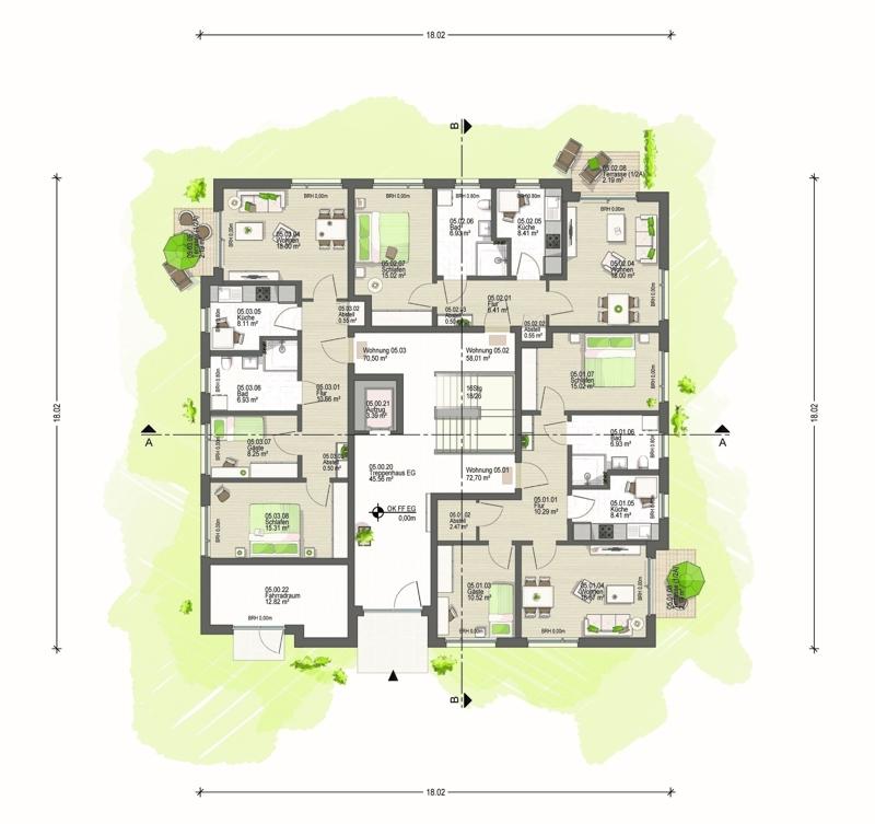 Erdgeschoss Haus 5 (E)
