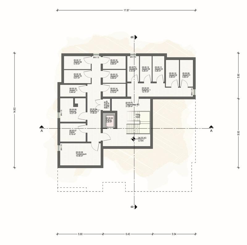 Kellergeschoss Haus 5 (E)
