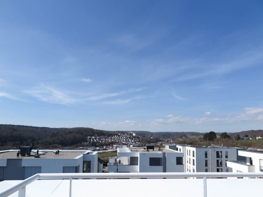 Dachterrasse Ausblick West