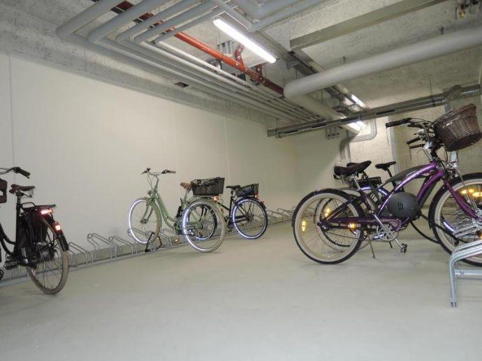Fahrradraum in der Tiefgarage