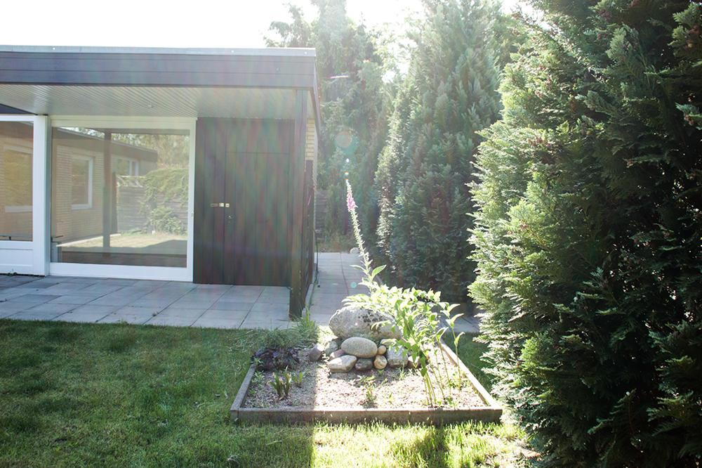 Hausansicht Garten