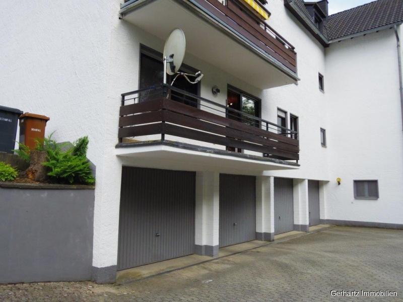 Die Garage/Balkon.