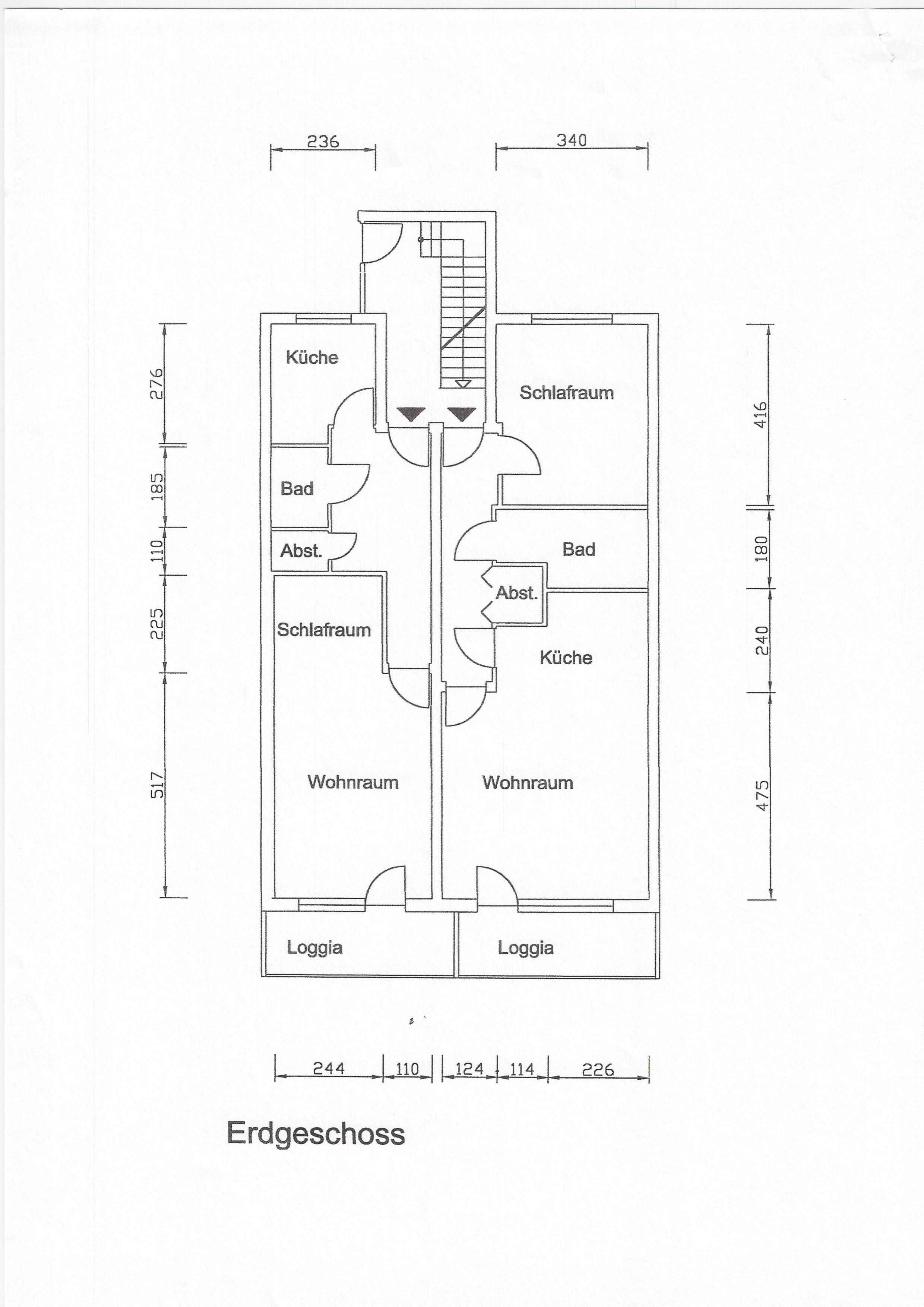 45 m² im Erdgeschoss