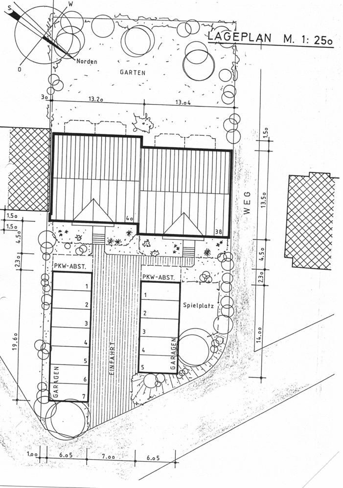 Plan Garagen u. Garten