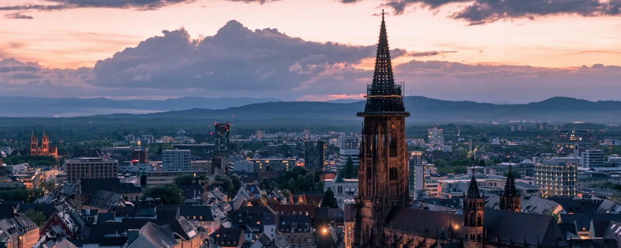 Freiburg Dämmerung