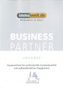 Business Partner Urkunde Immowelt