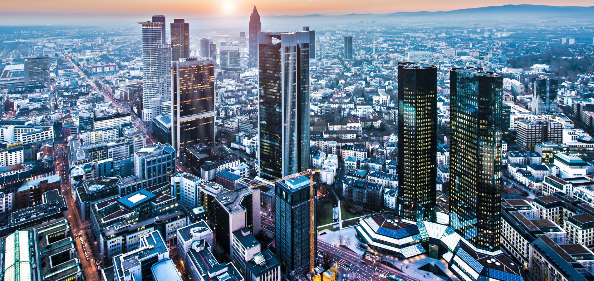 Luftaufnahme auf Frankfurt am Main