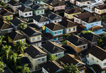 Aneinandergereihte Häuser