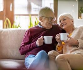 Glückliches Seniorenpaar in Ingolstadt