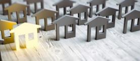 Modellhäuser auf Holzboden