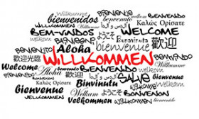 Begrüßungen auf verschiedenen Sprachen